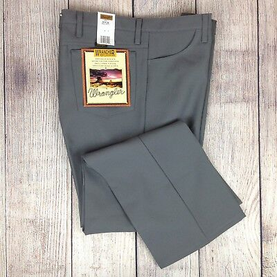 69dce9fd WRANGLER Wrancher Boot Jeans Men's 44 x 32 NWT Wrinkle Resist Gray Pants  Regular