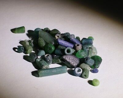 Ancient Roman Green Glass Beads Circa 2Nd Century Ad - No Reserve 032