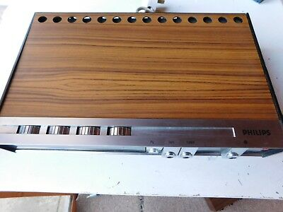 Genuine Philips 22Rh580/15T Amplifier Vintage Wood 1970S Made In Holland