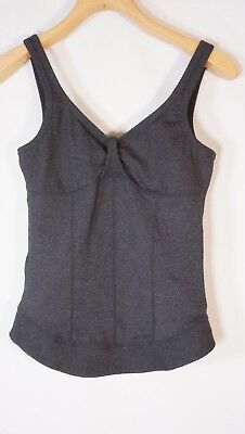 fa2414a8312f0 ONEILL WOMENS GRAY Peach Exercise Tank Top Built In Bra Size Small ...