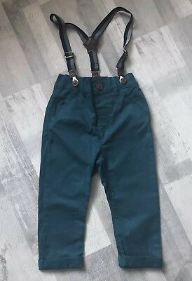 Bnwot Next Trousers With Braces 18/24 Months