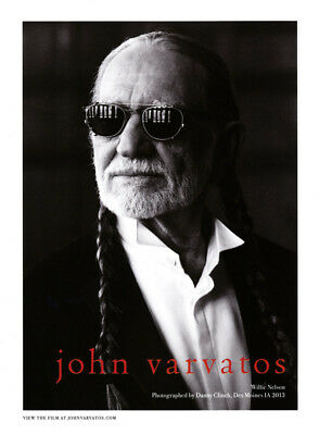 Willie Nelson 1-pg clipping 2013 ad for John Varvatos