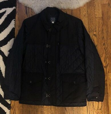 $268 J.Crew Sporting Quilted Jacket Men's Medium Navy Coat M Hunting CLASSIC