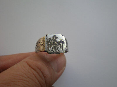 Ancient ROMAN LEGIONARY SILVER RING-Legio XX