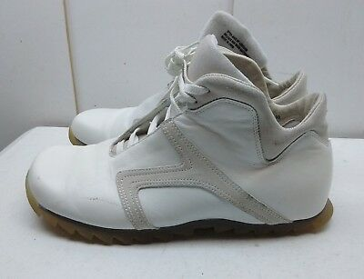 0c7aa70c93d STEVE MADDEN ROSWELL White Leather Ankle Lace Sneaker Beatle Boot Men's  Shoe 10M