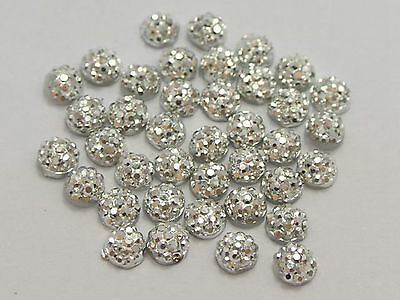 "1000 Silver Round Flatback Resin Dotted Rhinestone Gems 4mm(0.16"") Nail Art"
