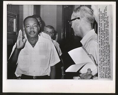 1962 Martin Luther King Being Jailed Original Associated Press Wire Photograph