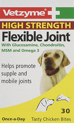 Vetzyme High Strength Flexible Dog Joint Pain Tablets 30 s *SAMEDAY DISPATCH*