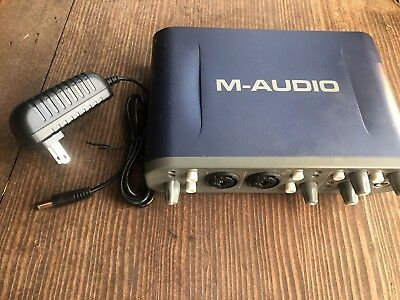 M-Audio Fast Track Pro Digital Audio Recording Interface, XLR  CLEAN + TESTED
