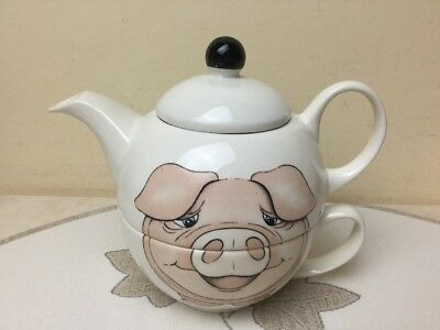 Vintage Arthur Wood Tea For One Back To Front Pig Perfect