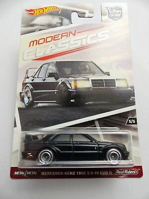 HOT WHEELS MODERN CLASSICS MERCEDES BENZ 190E EVO 2.5 II 1:64 5/5 ! auf Lager !