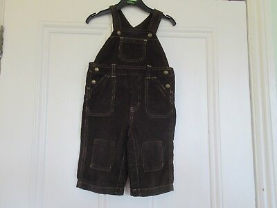 6-12m: Lovely brown cord dungarees: Baby GAP: Good condition