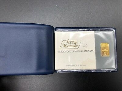 ALBINO MOUTINHO CERTIFIED GOLD BAR - 2.5gram Fine Gold 999,9 - PORTUGAL