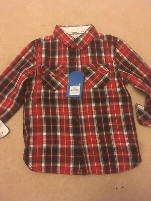 Primark Boys Checked Shirt 2-3 Years BNWT.