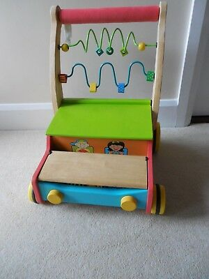 Parents Magazine Play & Learn: Wooden, Around the Block Wagon/ Cart, Walker