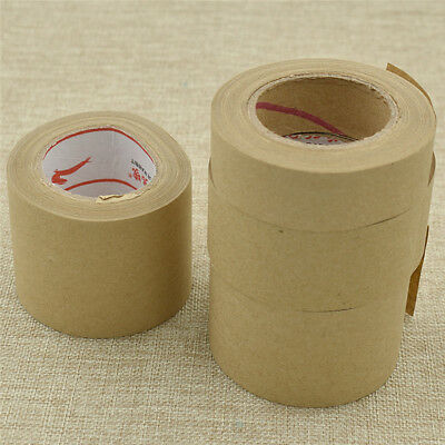 27m Kraft Brown Paper Tape Water Activated Supplies for Frame Watercolor Crafts