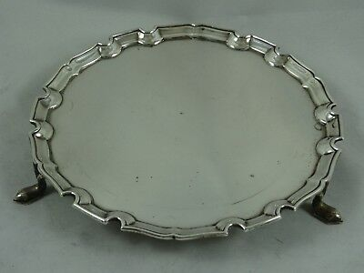 SMART solid silver SALVER, 1927, 163gm