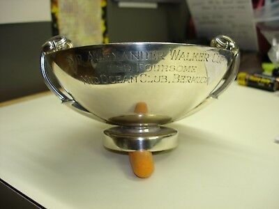 1950s Johnnie Walker STERLING Golf WHISKEY QUAICH Trophy ALEXANDER WALKER CUP