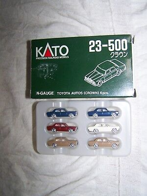 Kato #23-500 N-Scale Toyota Crown Autos(Pack of 6)