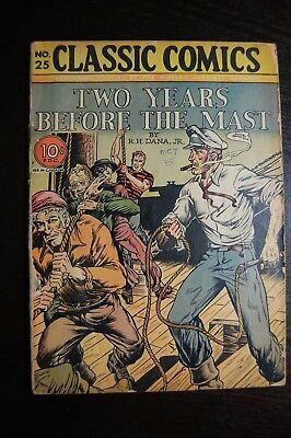 Classic Comics #25 Two Years before The mast Original edition 10/1945
