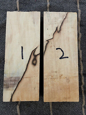 Spalted and ripple figure maple knife scale handle block / carving block 150mm