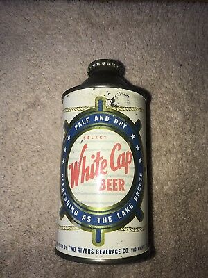 White Cap Beer Cone Top Can