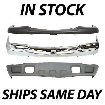 Brand NEW Complete Steel Front Bumper Kit for 2003-2007 Silverado & Avalanche