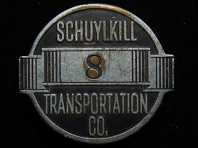Early Schuykill Transportation Company Numbered Operator Badge c1920 Pittsburgh