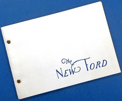 "1932 ""THE NEW FORD"" sales aid chart booklet repro"