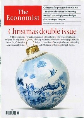 THE ECONOMIST MAGAZINE DOUBLE ISSUE 22nd DECEMBER 2018 ~ NEW ~