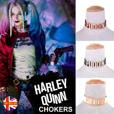 Leather Harley Quinn Puddin Suicide Squad Hippy Boho Swingers Choker Necklace