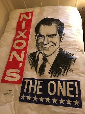 Vintage political poster Richard Nixon's The One 1968 Campaign Poster