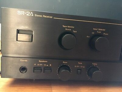 Nakamichi SR-2A Stereo Receiver Stasis Amplifier Japan Build Nice Phono Stage