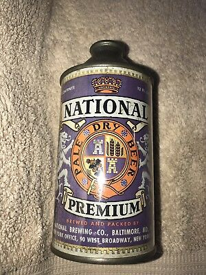 National Premium Beer Cone Top Can