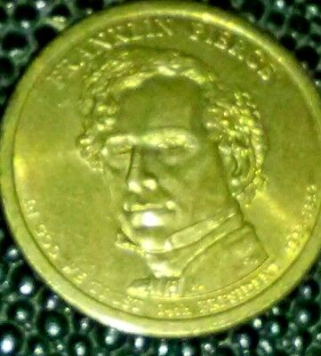 2010 D Franklin Pierce Dollar Coin Position A Edge Lettering Ex Condition