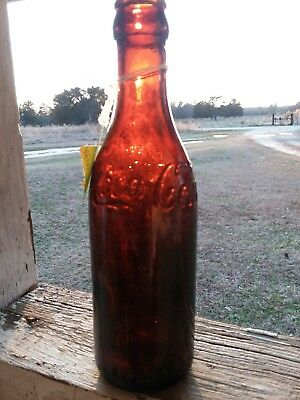 Amber Straight Sided coca cola bottle Baltimore MD.