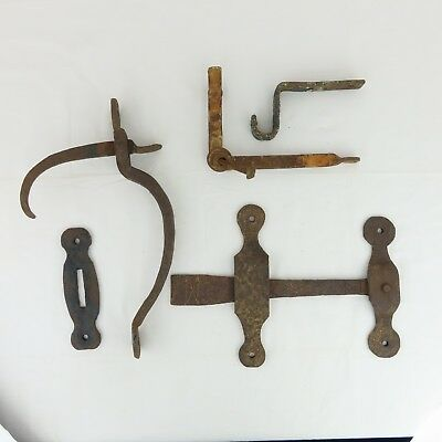 Antique 18th Century Blacksmith Made Hand Forged Door Stable Gate Latch