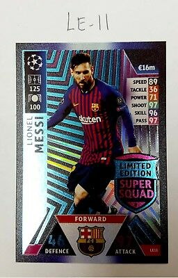 Le-11-Messi--Topps Match Champions League 2018/2019 Limited Edition