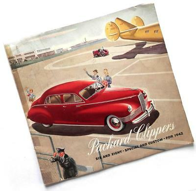 1942 PACKARD CLIPPER Six and Eight—Special and Custom—BROCHURE catalog