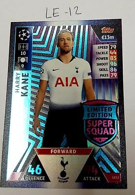 Le-12-Haeey Kane---Topps Match Champions League 2018/2019-Limited Edition