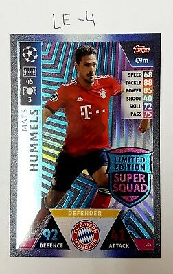 Le-4-Hummels-Topps Match Champions League 2018/2019-Limited Edition
