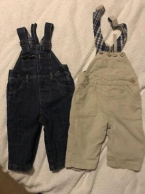 Two Baby Gap Boys Dungarees 6-12 Months Immaculate Condition
