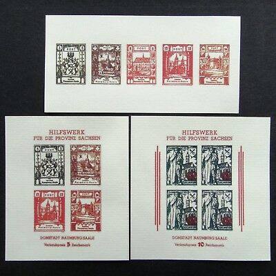 Germany Nazi 1945 Stamps MINT Imperf Sheet Saale Third Reich WWII German