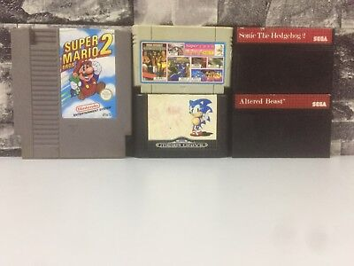 Super Mario Bros 2 Nintendo Nes Sonic the hedgehog Altered Beast Sega games Rare
