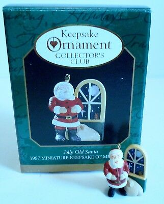 "1997 Hallmark Miniature Ornament ""Jolly Old Santa""     MIB"