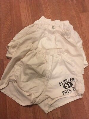Vintage Lot Of 3 1950's Sanforized Cotton Gym Shorts Different Brands Mens Small