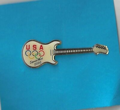 Olympic Pin Badge Sydney 2000 Usa Sports Med Guitar Pin