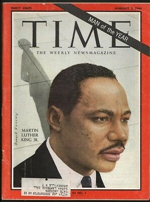 """Jan. 4, 1964 Martin Luther King, Jr. Time's   """" Man Of The Year"""" Time Magazine"""