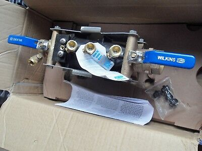 ZURN WILKINS 1-375 Reduced Pressure Zone Backflow Preventer - New