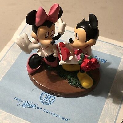 """""""MICKEY AND MINNIE"""" February Together Forever' Calendar Bradford Exchange Disney"""